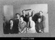 Kunstikooli Pallas skulptuuriateljee õpilased. I reas vasakult: Mäger, Verhoustinskaja, Karu, Horma; II reas vasakult: Ilus, H. Halliste, F. Sannamees, E.Viiralt, A. Starkopf. Tartu 19.05.1924. - EFA
