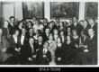 """Koosviibimine kunstikoolis """"Pallas"""", teise reas paremalt 1.V. Adams; Aino Suits, Hugo Raudsepp, Urgart, Vallak. Tartu [1935-1938] - EFA"""