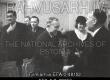 Kirjanik A.H. Tammsaarele kirjandusliku auhinna kätteandmine, (vasakult) 1. F. Puksoo, 2. A. Tanner, 4. A.H. Tammsaare, 5. M. Under, 3. R. Paris. 1936 - EFA