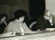 Debora Vaarandi ja August Sang Eesti NSV kirjanike V kongressil Tallinnas 17.02.1966. a. - KM EKLA