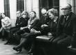 Par.: August Sang, Ellen Niit-Kross, Jaan Kross, Linda Viiding kirjandusõhtul Kirjanike Majas 17.02.1966. a. - KM EKLA