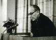 August Sang kirjandusõhtul Kirjanike Majas Tallinnas 17.02.1966. a.  - KM EKLA