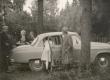 Fr. Tuglas, B. Alver, E. Tuglas ja J. Eilart Valgemetsas 1963. a. - KM EKLA