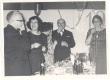 ENSV Kunstnike Liidu 20. aastapäev 31. XII 1962. Vasakult: 1) R. Tiitus, 2) D. Vaarandi, 3) A. Bach, 4) J. Semper, 5) E. Jensen - KM EKLA