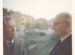 Johannes ja Joosep Aavik Stockholmis rõdul 1964 sügisel - KM EKLA