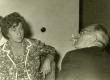 Kersti Merilaas ja August Sang Helene Siimiskeri dissertatsioonikaitsmise peol Kirjandusmuuseumis 21.06.1963  - KM EKLA