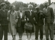 A. Hint, E. Kõrge, B. Alver, E. Tuglas, tundmatu, K. Kõrge Ahjal 12. sept. 1955 - KM EKLA