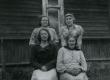 Liisa Tamm, Maali Tamm, Ella (snd Tamm) ja Betti Alver Suislepa Järvekülas 30. VII 1960 - KM EKLA
