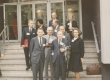 Ants Oras, Karl Ast-Rumor, Leili Ast jt New York'i Ülikooli trepil 1965 - KM EKLA
