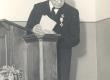 6. II 1938 Tartus korraldatud aktus K. E. Söödi 75. sünnipäeva tähistamiseks. K. E. Sööt avaldab aktuse korraldajatele tänu - KM EKLA