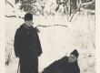 K. E. Sööt ja Fr. Karlson Tartu Toomemäel, 18. I 1931 - KM EKLA