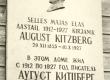 A. Kitzbergi mälestustahvel Tartus A. Kitzbergi tän (end. Kevade tän) - KM EKLA