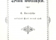 Bornhöhe, E. Villu Võitlused. 1890, Tln. Tiitelleht. - KM EKLA
