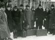 Eesti nõukogude kirjanike I kongressi külalised ühes vastuvõtjatega Tallinna Balti jaamas nov. 1946 - KM EKLA