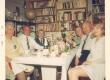 Johannes Aavik, Paul Aavik, Silvia Aavik jt. Johannese raamatukogus suvel 1968 - KM EKLA