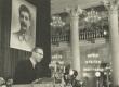 Mart Raud esinemas eesti nõukogude kirjanduse dekaadil Moskvas a/ü maja sammassaalis - KM EKLA