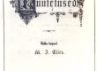 Eisen, M. J. Eesti luuletused. Trt,1881. Tiitelleht. - KM EKLA