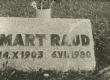Mart Raud haud Tallinnas Metsakalmistul - KM EKLA