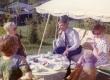 Arvo Mägi 60. sünnipäev 1973. a. Arvi Moor, Karl Ristikivi jt kohvilauas - KM EKLA