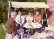 Arvo Mägi 60. sünnipäev 1973. a. Karl Ristikivi, Arvi Moor jt kohvilauas - KM EKLA