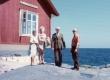 Arvo Mägi, Karl Ristikivi, Liidia Mägi ja … rannal - KM EKLA