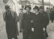 Kirjanike ringreis 1938. a. Vasakult: August Gailit, Artur Adson, Marie Under, Johannes Semper - KM EKLA