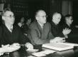 Kreutzwaldi päev Kirjandusmuuseumis 26.-27.12.1960. a.  Vas.: August Annist, August Sang, Nigol Andresen, Leo Anvelt - KM EKLA