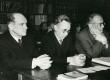Kreutzwaldi päev Kirjandusmuuseumis 26.-27.12.1960. a.  Vas.: Eduard Kubjas, August Annist, August Sang - KM EKLA