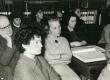 Kreutzwaldi päev Kirjandusmuuseumis 26.-27.12.1960. a. Vaade kuulajaile. Esiplaanil August Sang, Ellen Liiv, Selma Lätt - KM EKLA
