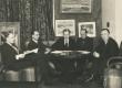 Kunstiklubi juhatus 1937. a. Vasakult: Sitska, Jaan Kitzberg, Peet Vallak, Kaarli Aluoja, Juhan Püttsepp - KM EKLA