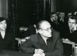 Vaade ENSV Kirjanike Liidu IV kongressi koosolekusaali 1958. a. Esireas Kersti Sang-Merilaas, paremal August Sang - KM EKLA