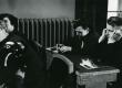 Vaade ENSV Kirjanike Liidu IV kongressi koosolekusaali 1958. a. A. Sang, K. Merilaas, V. Gross jt - KM EKLA