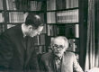 Friedebert Tuglas ja Evald Okas Okt. 1965. a. - KM EKLA