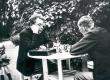Friedebert Tuglas ja Eino Oksanen maletamas Syvärannas, juuli 1936 - KM EKLA