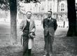 Friedebert Tuglas ja Lauri Hakulinen Hämeenlinnas 4. VI 1939 - KM EKLA