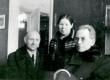 Tartus 21. märtsil 1944, enne Viljandi sõitu Herman Evert, Anna Pirnimäe, Friedebert Tuglas - KM EKLA