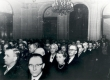 Hans Kruusi 70. a. juubeliaktus TA presiidiumi saalis. III reas paremalt 1) Fr. Tuglas, 2) E. Tuglas 1961 - KM EKLA