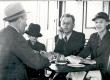 R. Kleis, E. Eesorg, F. Tuglas, E. Tuglas Naroova jõelaeval, suvi 1937 - KM EKLA