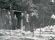 E. Tuglas, P. Kurvits, E. Eesorg, S. Oinas-Kurvits, F. Tuglas Munamäel, juuni 1938 - KM EKLA