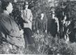 F. Tuglas, R. Kleis, Treumann, P. Kurvits, S. Oinas-Kurvits, E. Eesorg, E. Tuglas Kangasalal, juuli 1938 - KM EKLA