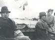 "V. Treumann, F. Tuglas, E. Tuglas teel Stockholmi ""Vironia"" pardal 21. VI 1939 - KM EKLA"