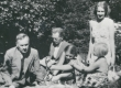 P. Kurvits, F. Tuglas, E. Tuglas, E. Eesorg, S. Oinas-Kurvits Meriväljal, aug. 1939 - KM EKLA