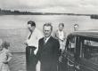 E. Eesorg, ?, F. Tuglas, E. Tuglas, P. Kurvits Narva jõel, 1937 - KM EKLA