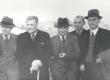 Kirjanike ekskursioon tööstusaladele. Oru lossi tornis 29. sept. 1938. P. Vallak, A. Jakobson, M. Jürna, A. Kivikas, F. Tuglas - KM EKLA