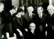 F. Tuglase 80. a. sünnipäeval 1966, a, V. Beekman, R. Parve, D. Vaarandi, R. Sirge, P. Rummo, G. Ernesaks, F. Tuglas (istub) - KM EKLA