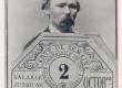 Köler, Johann, professor (ülesvõtte järgi Pariisi maailmanäituse päivilt 869. Fotole kleebitud näitusepääse J. Köleri allkirjaga) - KM EKLA