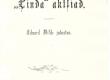 """Vilde, Eduard, jutustus """"Linda"""" aktsiad, 1894, tiitelleht - KM EKLA"""