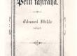 Vilde, Eduard, Peiu käsiraha, 1892, kaas - KM EKLA