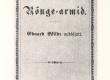 """Vilde, Eduard, uudisjutt """"Rõuge-armid"""" (1889), kaas - KM EKLA"""