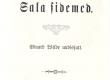 "Vilde, Eduard, uudisjutt ""Salasidemed"" Tallinn, 1888, tiitelleht - KM EKLA"